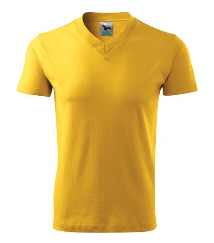 Pánské tričko V-neck Adler - Žlutá | XL