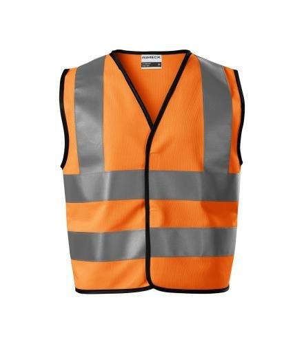 Dětská bezpečnostní vesta HV Bright - Reflexní oranžová | 6-8 let/116-140 cm
