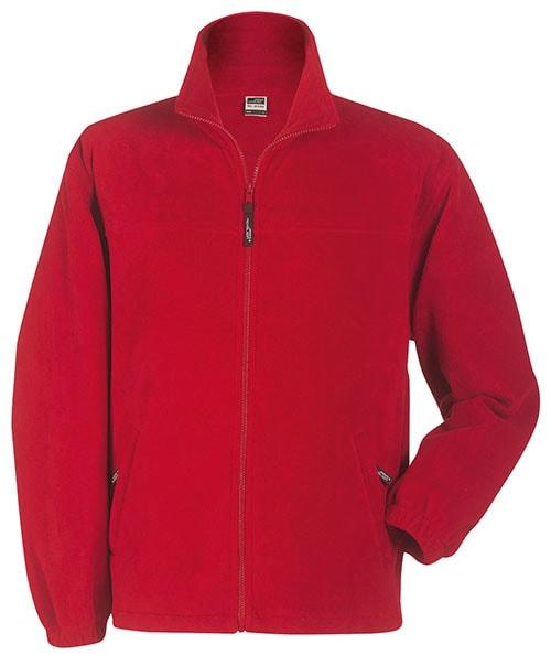 Dětská fleece mikina JN044k - Červená | XS