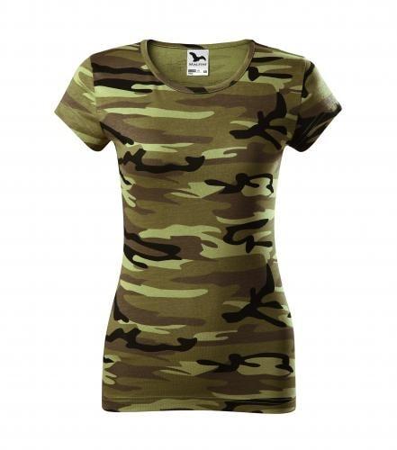 Dámské tričko Pure - Maskáčová zelená | XS