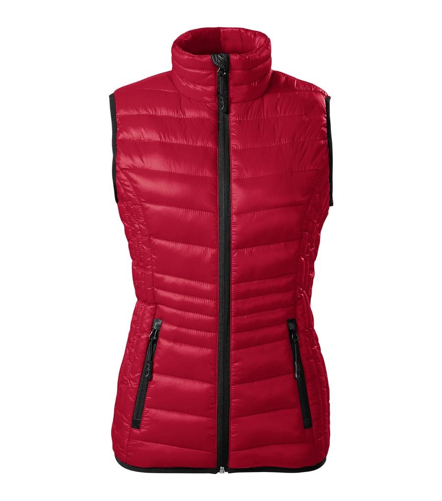 Dámská prošívaná vesta Everest - Jasná červená   XL