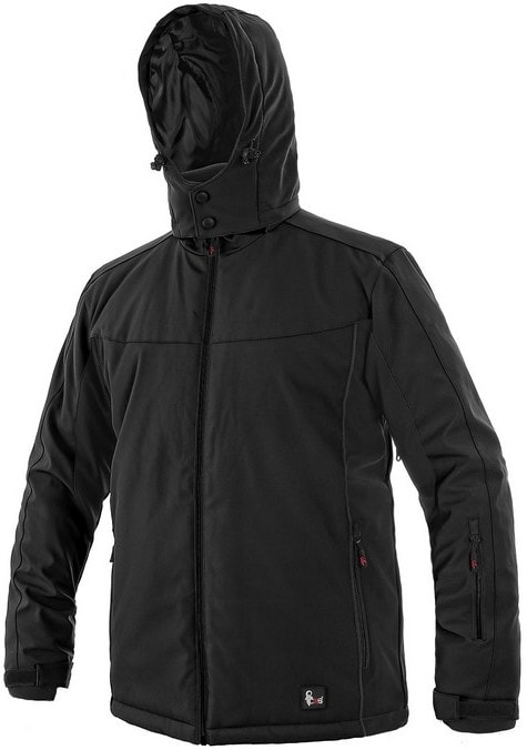 Pánská zateplená softshellová bunda VEGAS - Černá | L