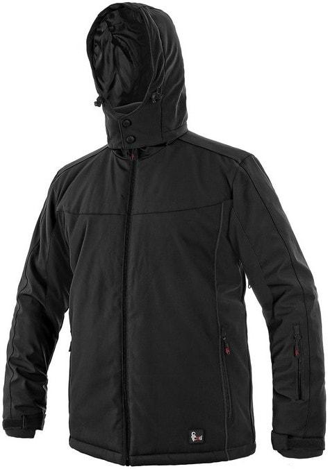 Pánská zateplená softshellová bunda VEGAS - Černá | XXXL
