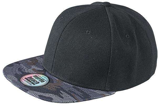 Kšiltovka s rovným kšiltem MB6631 - Černá / kostkovaný maskáč | uni