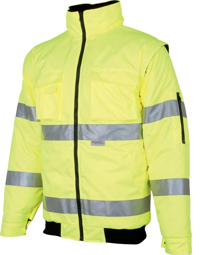 Nepromokavá reflexní bunda Howard reflex - Žlutá | XXXL