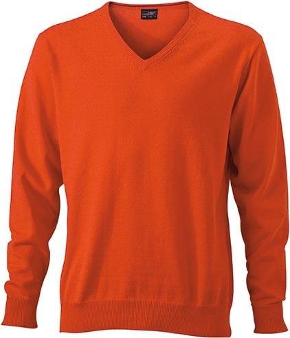 Pánský bavlněný svetr JN659 - Tmavě oranžová | XXXL