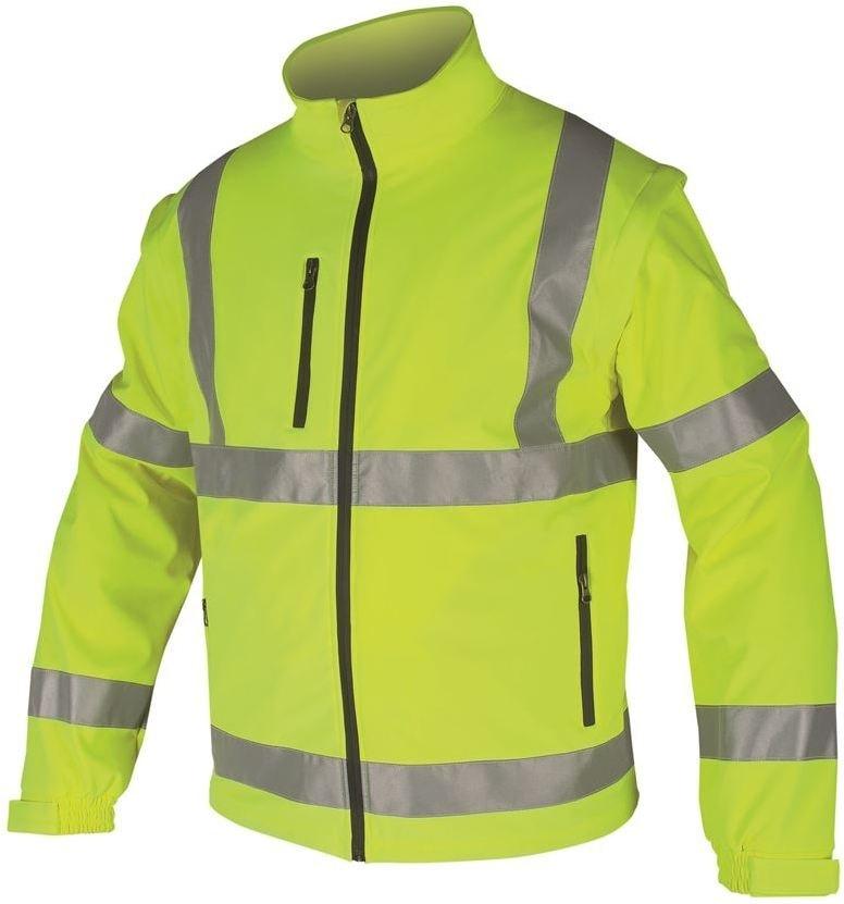Reflexní softshellová bunda - Žlutá | XXXXL