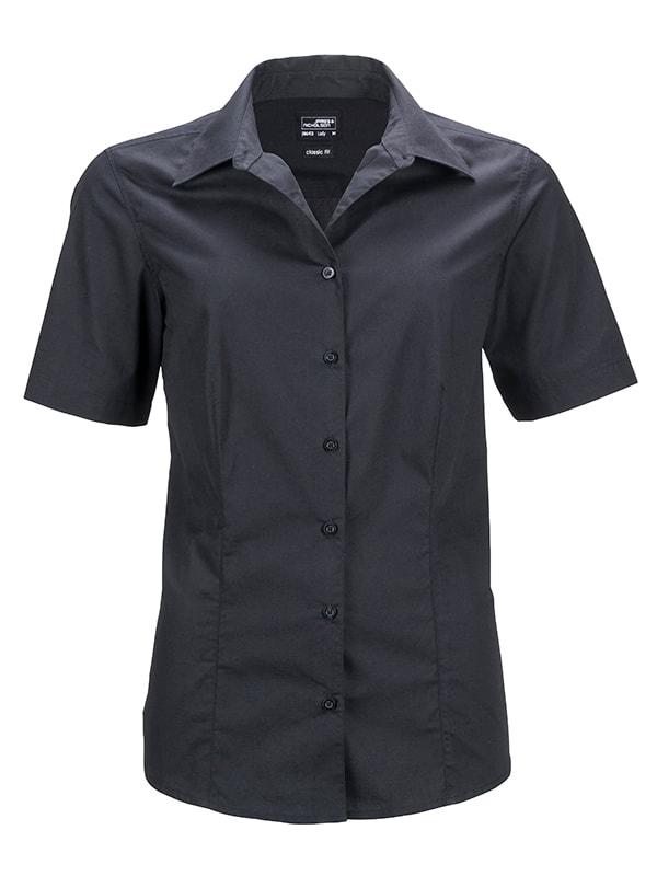 75a698dec87f James   Nicholson Dámska košeľa s krátkym rukávom JN643 - Černá