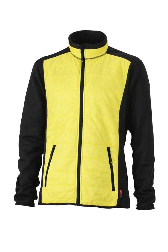 James & Nicholson Pánska športová bunda JN593 - Černá / žlutá / černá | XXXL