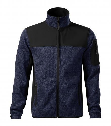 Pánská softshellová bunda Casual - Modrá | XXXL