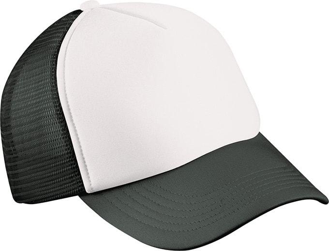 5 panelová kšiltovka MB070 - Bílá / černá | uni