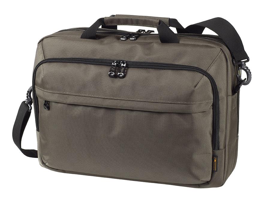 Business taška na notebook MISSION - Tmavě šedá
