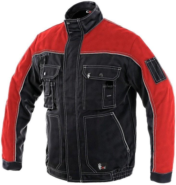 Zimní pracovní bunda ORION OTAKAR - Černá / červená   56-58