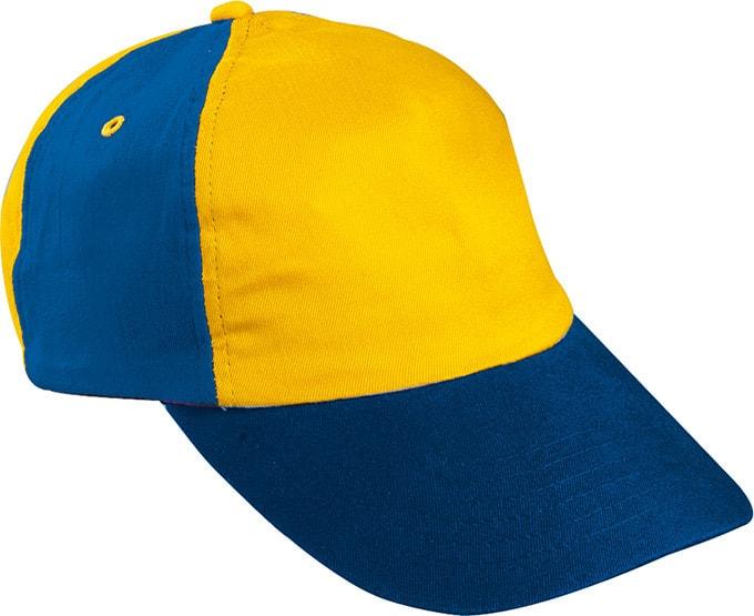 Dětská 5P kšiltovka MB7010 - Zlatě žlutá / královská modrá / červená / tmavě modrá