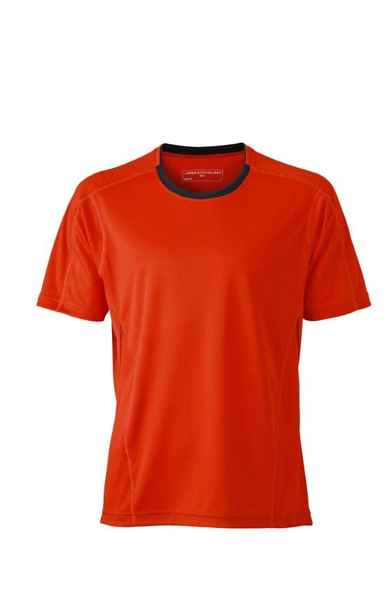 Pánské běžecké tričko JN472 - Grenadina / ocelově šedá | XXL