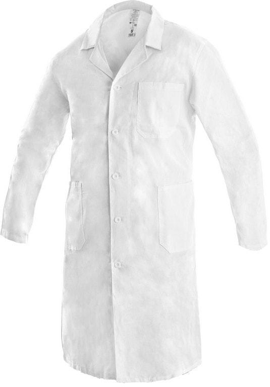 d595492deb6 Pánský pracovní plášť ADAM bílý - DobrýTextil.cz