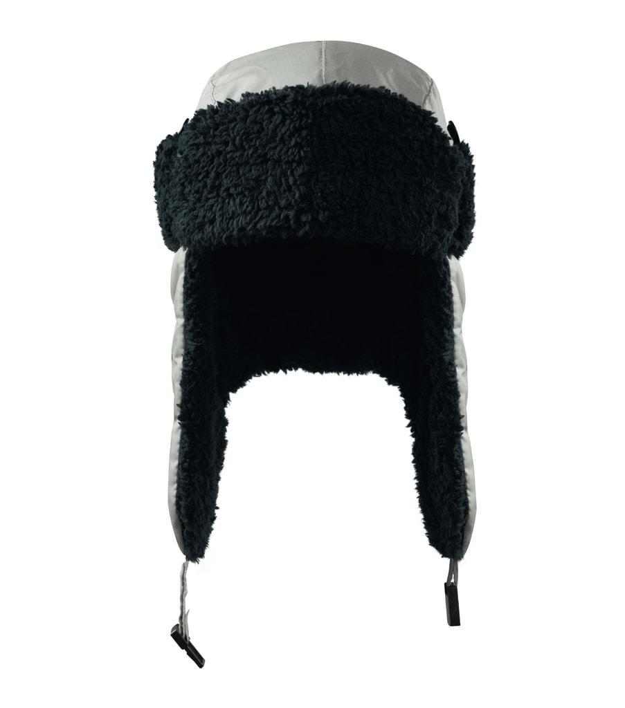 Čepice s ušima Furry - Stříbrná | L