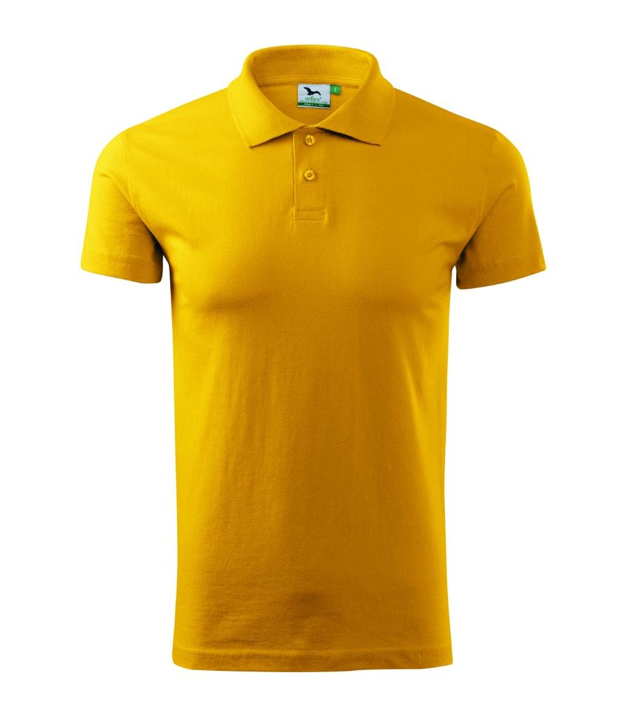 Hladká pánská polokošile Adler - Žlutá | XL