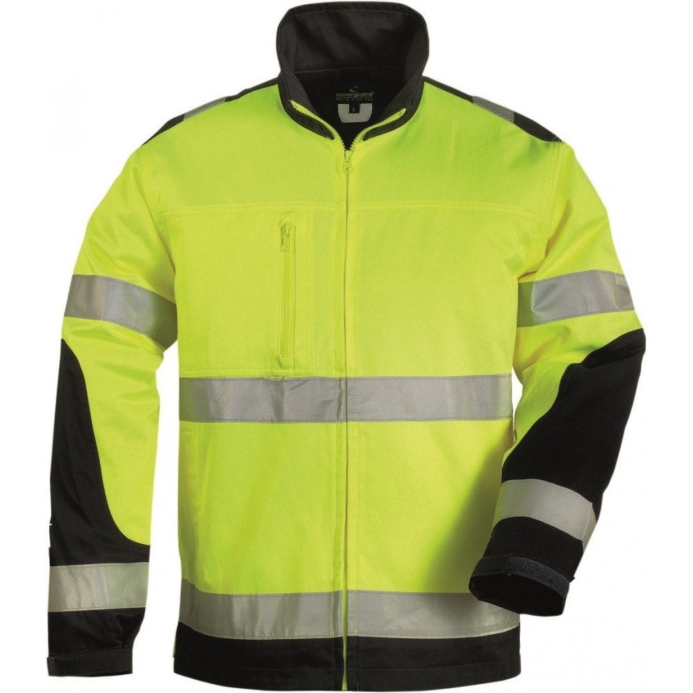 Reflexní bunda s límečkem Patrol - Žlutá | M