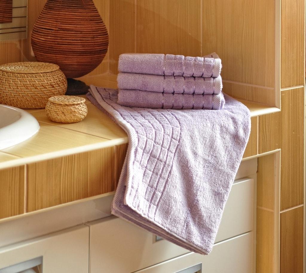 Bambusový ručník - Fialová   50 x 100 cm