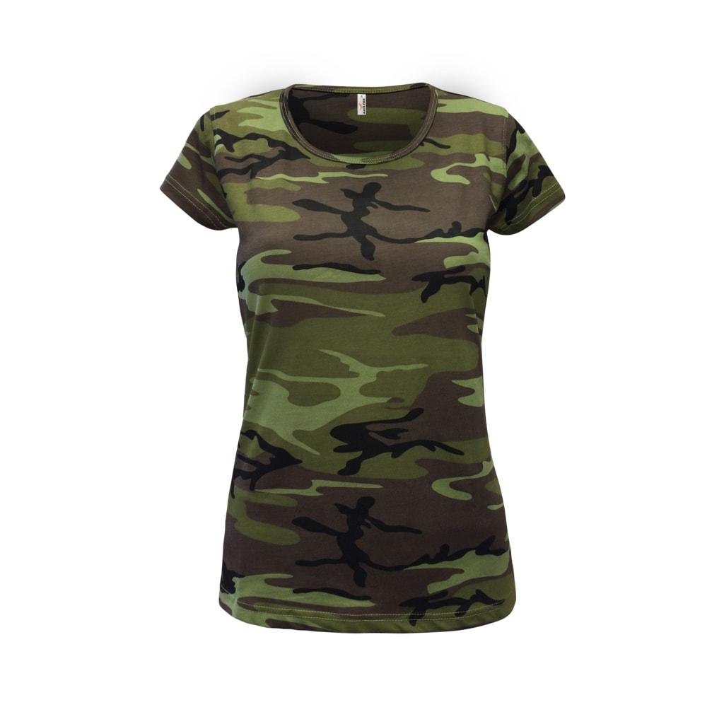 Dámské maskáčové tričko Camouflage - XL