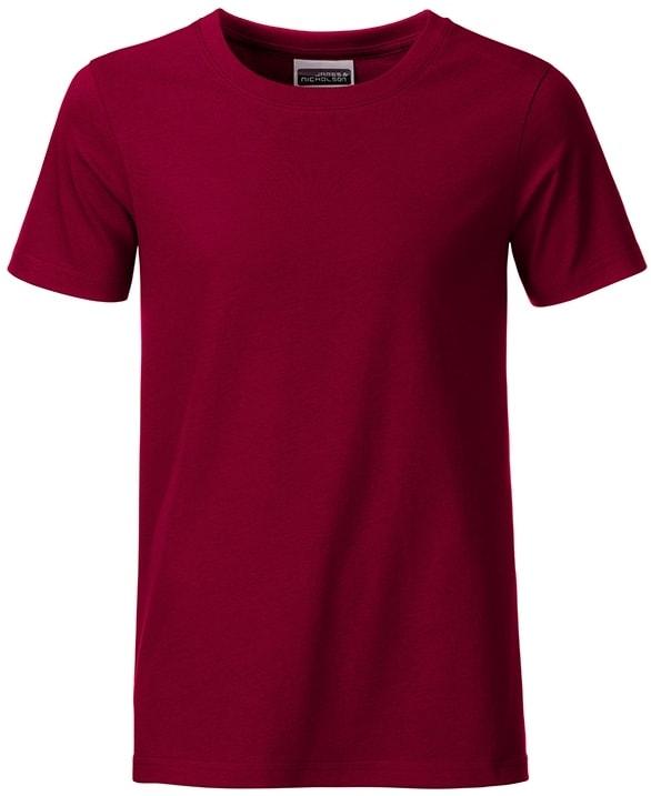 Klasické chlapecké tričko z biobavlny 8008B - Vínová | M