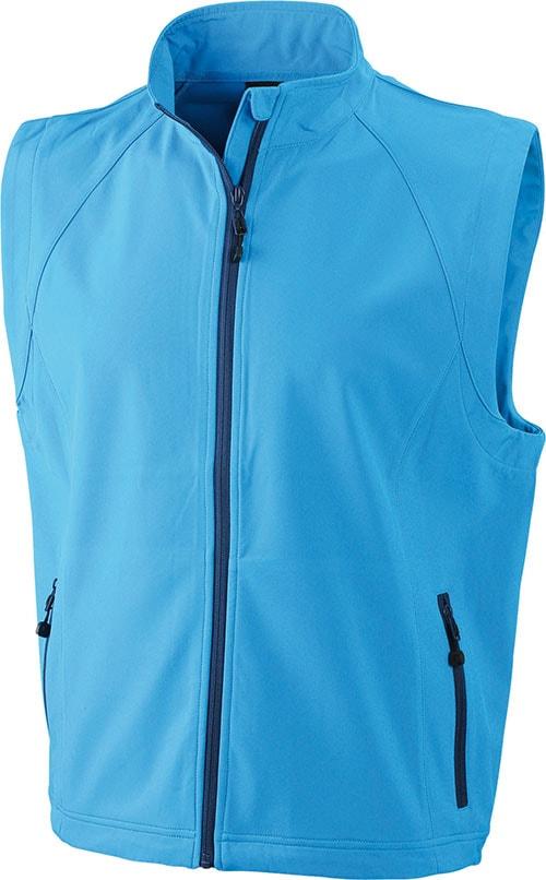 Pánská softshellová vesta JN1022 - Azurová   L