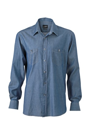 Pánská džínová košile JN629 - Světle džínová | XXXL