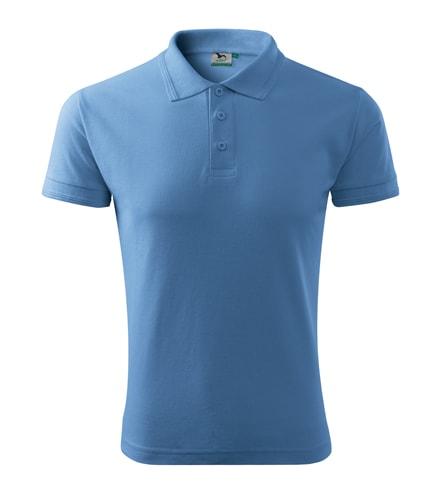 Pánská polokošile Pique Polo - Nebesky modrá   L