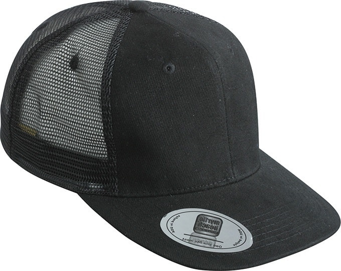Kšiltovka s rovným kšiltem MB6509 - Černá | uni