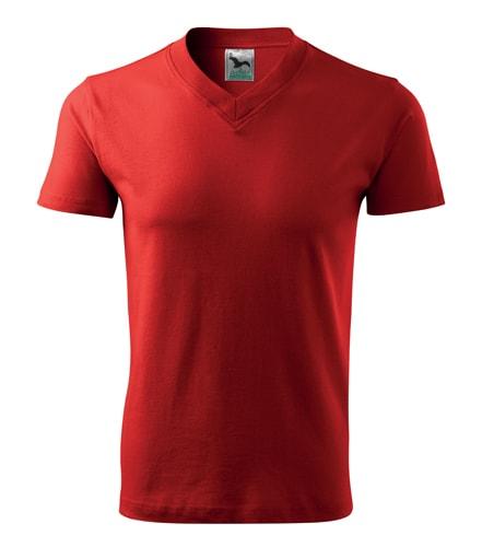 Pánské tričko V-neck Adler - Červená | XXL