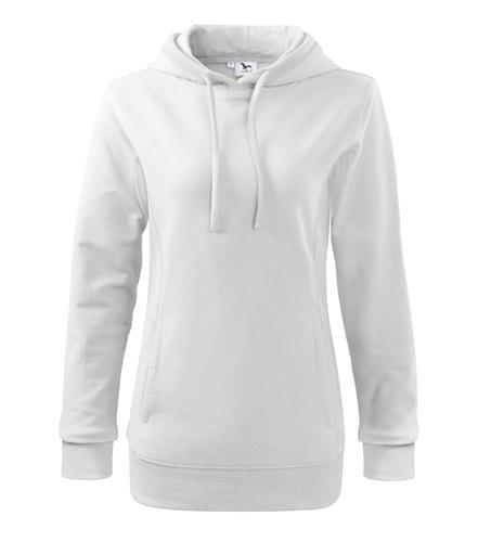 Dámská barevná mikina Kangaroo - Bílá / bílá | XL