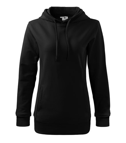 Dámská barevná mikina Kangaroo - Černá/černá | XL
