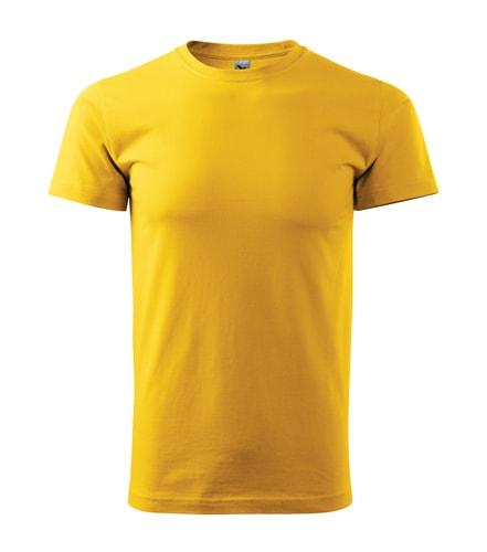 Pánské tričko Basic Adler - Žlutá | XL