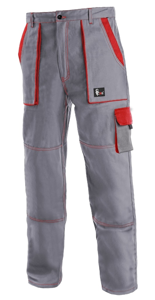 Pracovní kalhoty CXS LUXY JOSEF - Šedá / červená   52