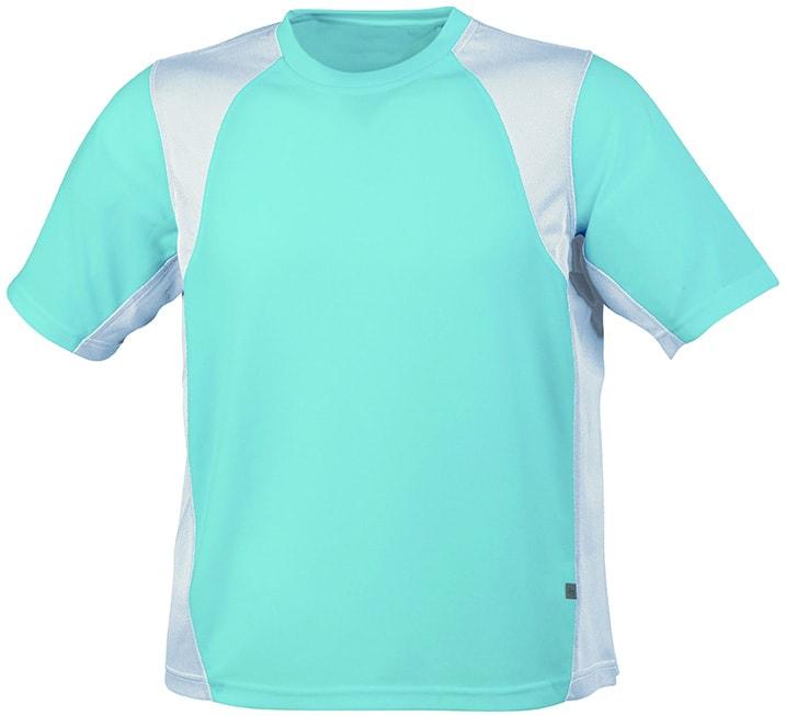 Pánské sportovní tričko s krátkým rukávem JN306 - Ocean / bílá | M