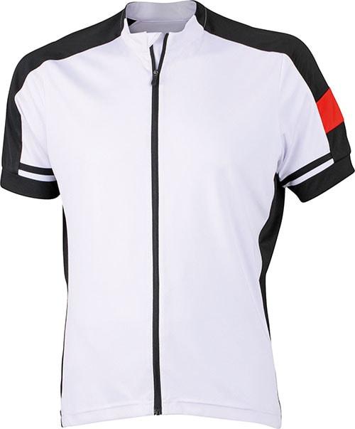 Pánský cyklistický dres JN454 - Bílá | XXL