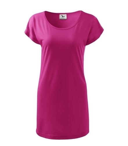 Dámské dlouhé tričko - Purpurová | M