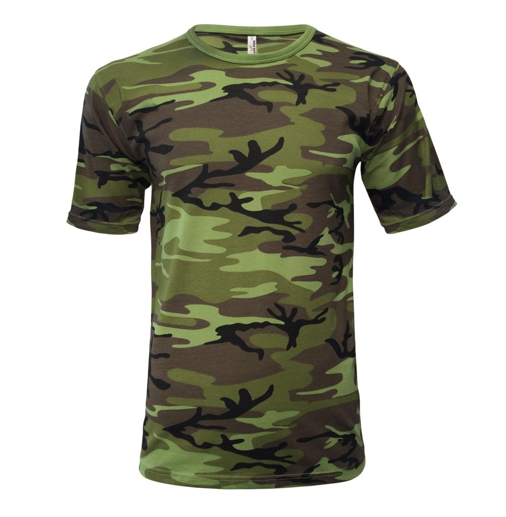 Pánské maskáčové tričko Camouflage - L