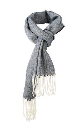 Elegantní tkaná šála MB7974 - Tmavě modrá | 180 x 130 cm