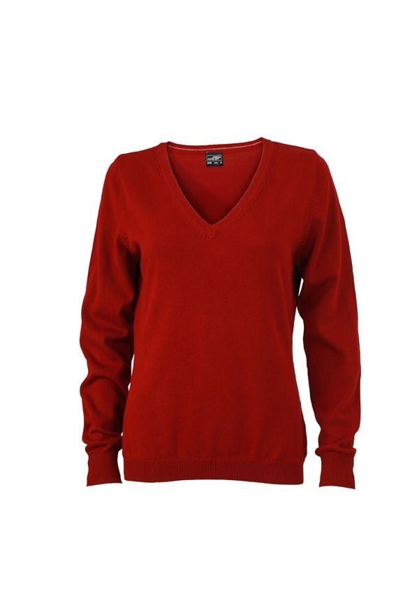 Dámský bavlněný svetr JN658 - Bordeaux | XXL