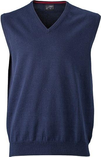 Pánský svetr bez rukávů JN657 - Tmavě modrá | XL