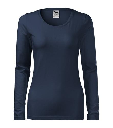 Dámské tričko s dlouhým rukávem Slim Adler - Námořní modrá | XXL