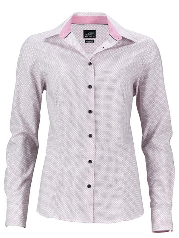 Dámská luxusní košile Diamonds JN669 - Bílá / červená   M