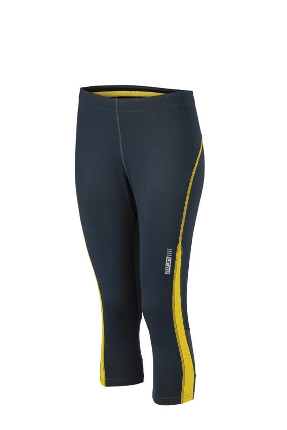 Dámské sportovní 3/4 kalhoty JN481 - Ocelově šedá / citrónová | L