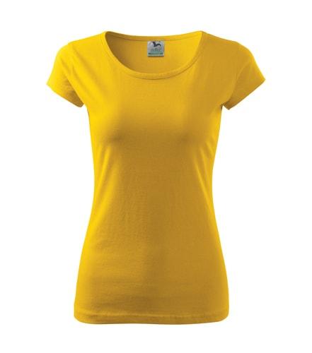 Dámské tričko Pure - Žlutá | S