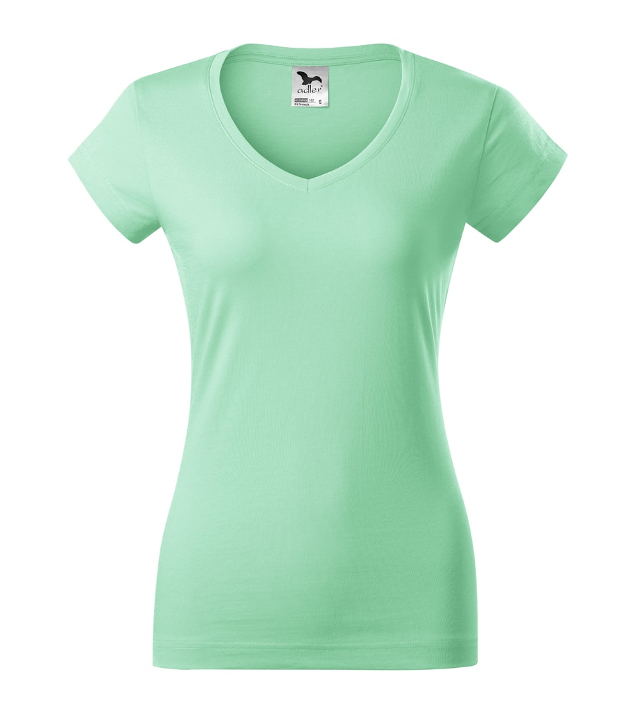 Dámské tričko Fit V-neck - Mátová | XL