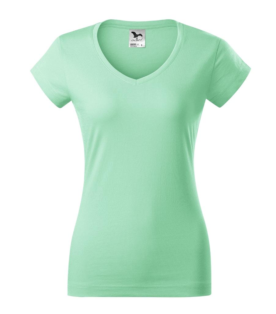 Dámské tričko Fit V-neck - Mátová | L