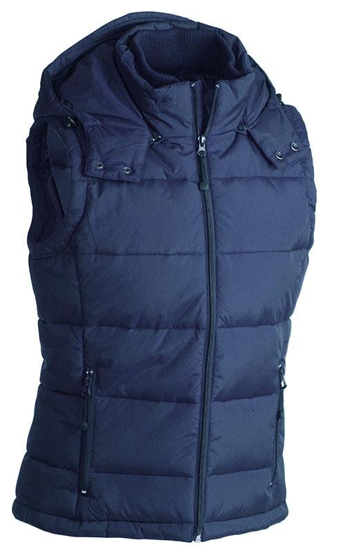 Pánská zimní vesta s kapucí JN1004 - Tmavě modrá | S