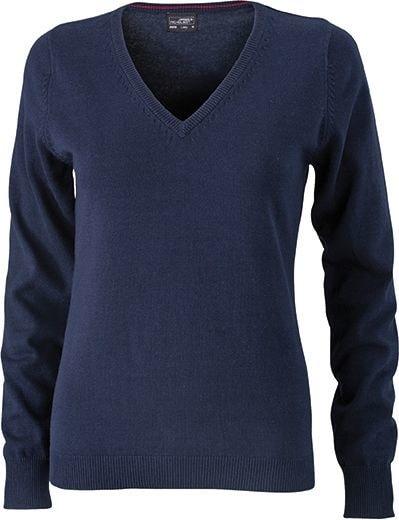Dámský bavlněný svetr JN658 - Tmavě modrá | XXL